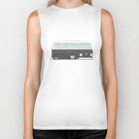 vw bus Biker Tanks featuring Low VW Bus by leducland