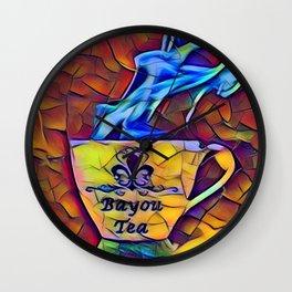 Bayou Tea Logo Wall Clock