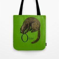 otter Tote Bags featuring Otter by zuzia turek