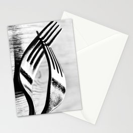Cutlery 1: Forked Stationery Cards