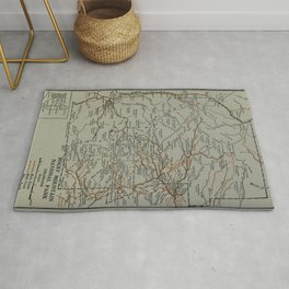 Vintage Rocky Mountains National Park Map (1919) Rug