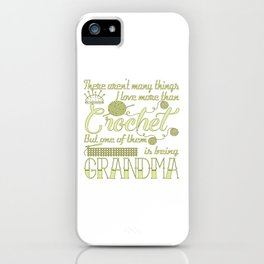 Crochet Grandma iPhone Case