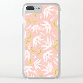 lightpinkflower Clear iPhone Case