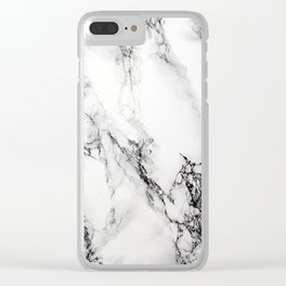 Marble Pattern Clear iPhone Case