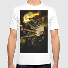 Machine thoughts White Mens Fitted Tee MEDIUM