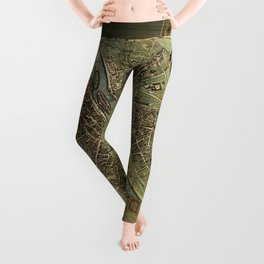 Old Paris Map and other manuscripts Leggings