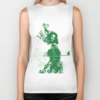 cello Biker Tanks featuring Cello and flowers by Design4u Studio