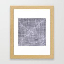 Ink Weaves: White Quartz Framed Art Print