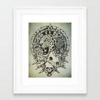 jaguar Framed Art Prints featuring Jaguar  by Erick Gonzaga