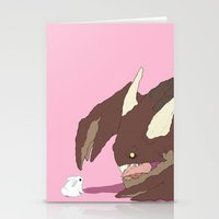 bunnies Stationery Cards featuring Bunnies by bloozen