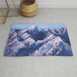 Textured Mountain Painting for Dad Rug