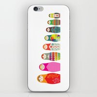 russian iPhone & iPod Skins featuring Russian Dolls by malobi