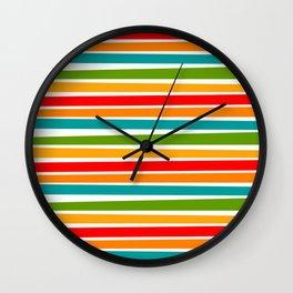 cOLORED sTICKS Wall Clock