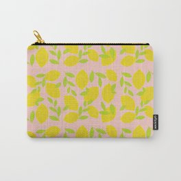 Bright Lemon Pattern Carry-All Pouch