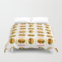 burger Duvet Covers featuring Burger Burger by Brianne Burnell