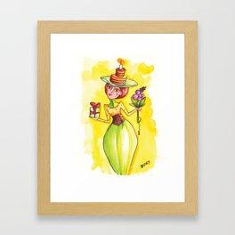 """Happy birthday-Lady! (""""Boldog születésnapot!"""") by Verabella Framed Art Print"""