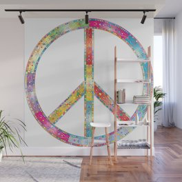 flourish decorative peace sign Wall Mural