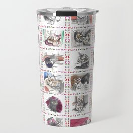 Quilt of Many Cats Travel Mug