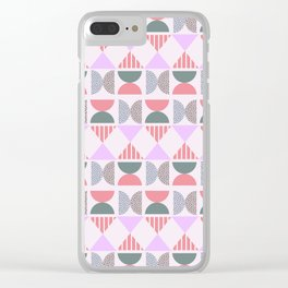 Soft modern shapes Clear iPhone Case