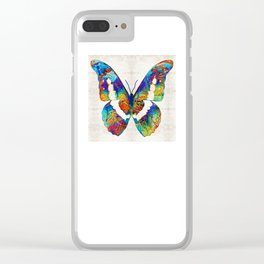 Colorful Butterfly Art by Sharon Cummings Clear iPhone Case