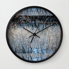 Beauty You See Wall Clock