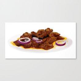 Beef tenderloin with sauce Canvas Print