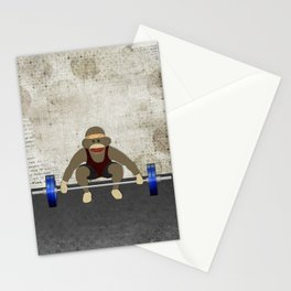 Sock Monkey Bodybuilder Stationery Cards