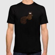 Minanimals: Squirrel Black SMALL Mens Fitted Tee