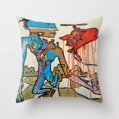 'Walking the Meat Cake!!' painting by Amos Duggan Throw Pillow