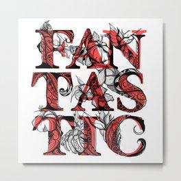 FANTASTIC RED Metal Print