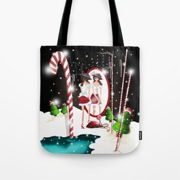 Ms. Santa's Whispering Candy Cane Tote Bag
