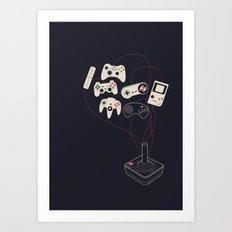 Videogame Art Print