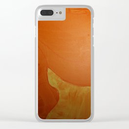 Dariusz Stolarzyn Orange, Oil Painting Clear iPhone Case