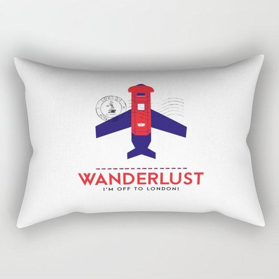 Royal Travel - London Wanderlust Rectangular Pillow