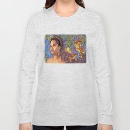 Fruits and Fantasy: Golden Apple Toad King Long Sleeve T-shirt