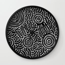 Aboriginal Art Authentic - Meeting Places Wall Clock