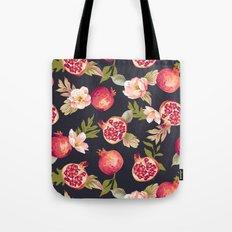 Pomegranate patterns - floral roses fruit nature elegant pattern Tote Bag