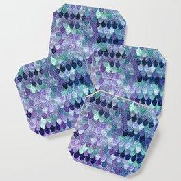 SUMMER MERMAID  Purple & Mint by Monika Strigel Coaster