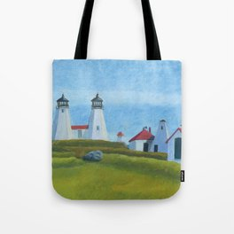 Plymouth Lighthouse Tote Bag