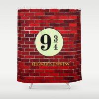 hogwarts Shower Curtains featuring Hogwarts Express by kattie flynn