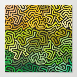Green Worms Canvas Print