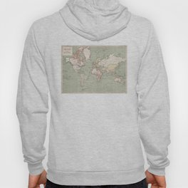 Vintage Map of The World (1915) Hoody