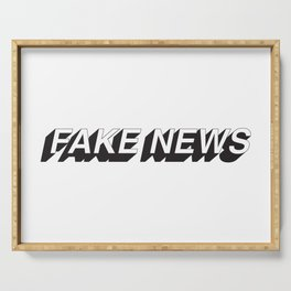 FAKE NEWS Serving Tray