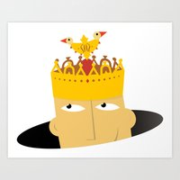 crown Art Prints featuring Crown by Efrem Barrotta