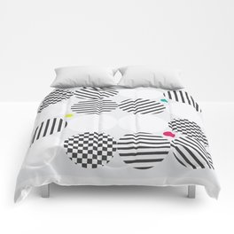A pop of black and white Comforters