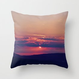 Pink and Purple Truckee Sunrise Throw Pillow