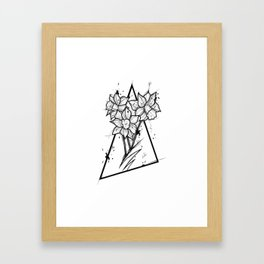 Narcissus Handmade Drawing, Made in pencil and ink, Tattoo Sketch, Tattoo Flash, Blackwork Framed Art Print