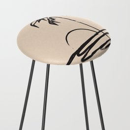 Abstract Landscpe Counter Stool