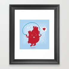 Cardio Ambition Framed Art Print