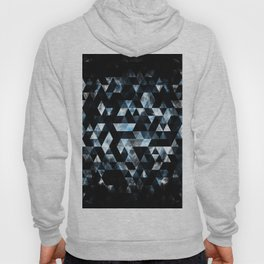 Triangle Geometric Misty Blue Smoky Galaxy Hoody
